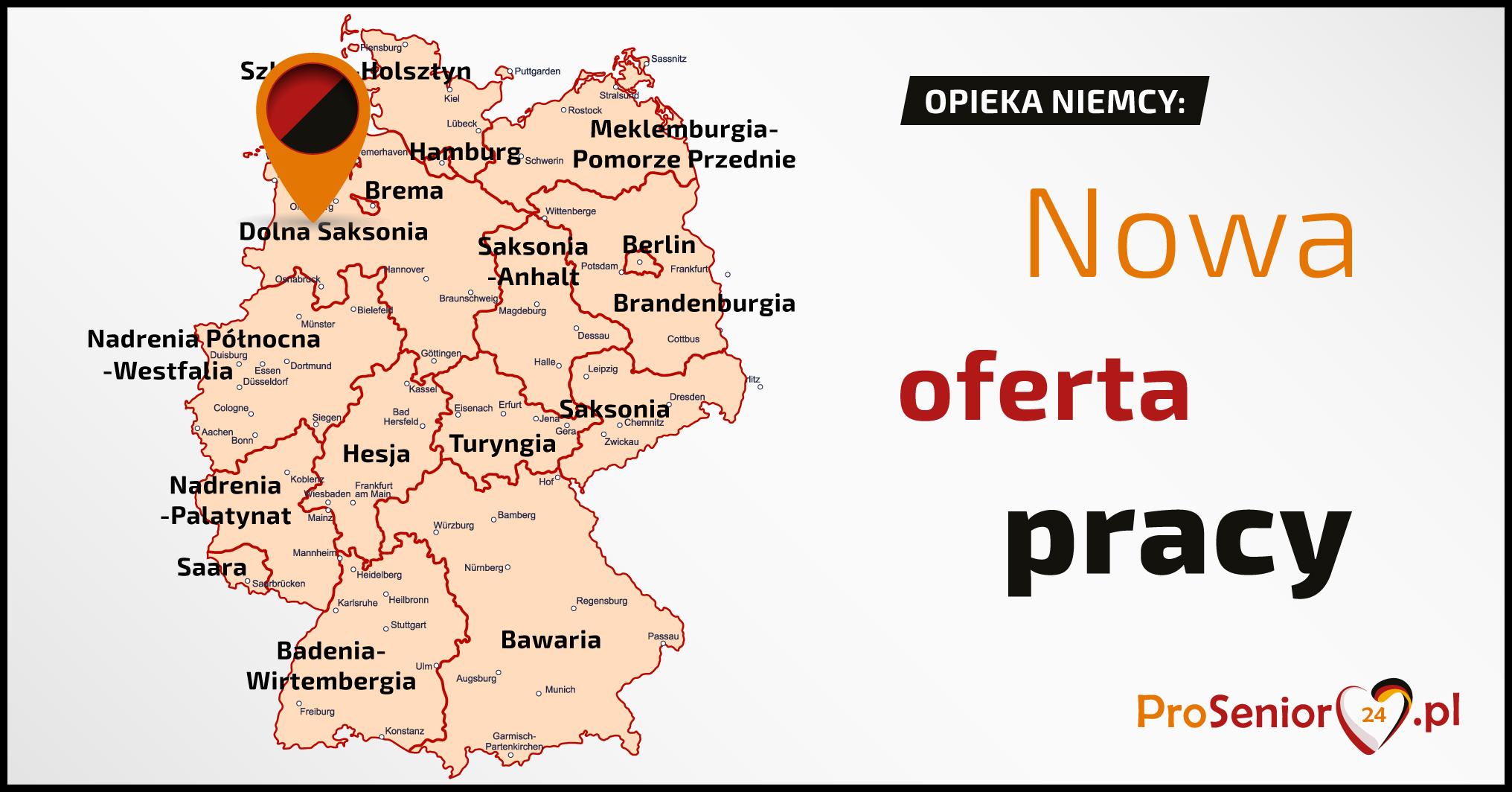 Oferta Opiekunka do starszej samotnej pani w Osnabrück +WYJAZD NA KONIEC LIPCA + PREMIA DODATKOWA